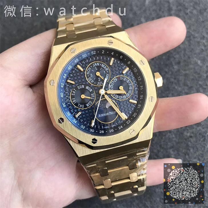 【JF厂】爱彼皇家橡树26574黄金男士自动机械一比一多功能复刻手表