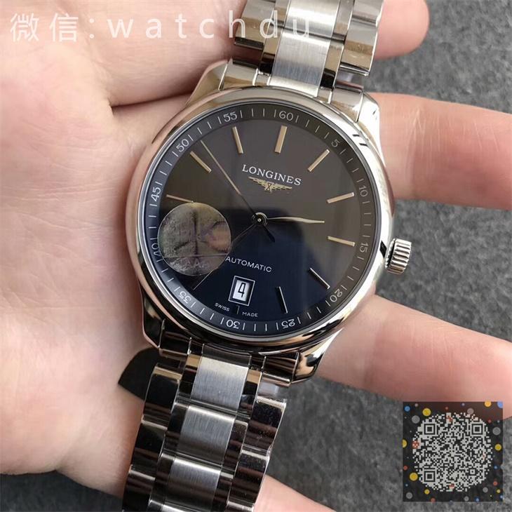 【MK厂】浪琴名匠系列六点日历蓝面超薄条丁男士自动机械一比一复刻手表