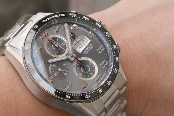V6泰格豪雅卡莱拉系列赛车自动机械计时精仿手表