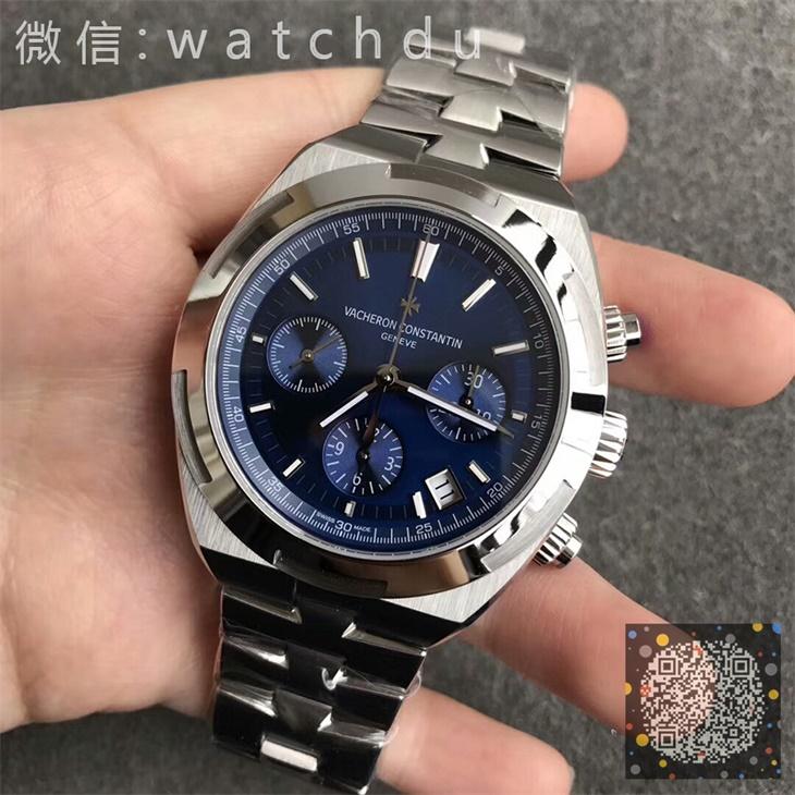 【BF厂】江诗丹顿(Vacheron Constantin)纵横四海系列蓝面钢带男士自动机械一比一计时手表