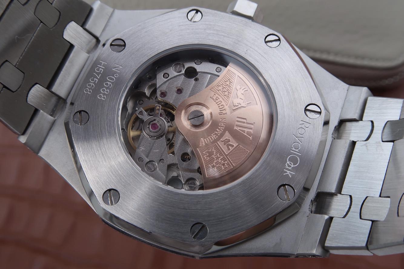 爱彼经典皇家橡树系列雕花格纹精仿手表