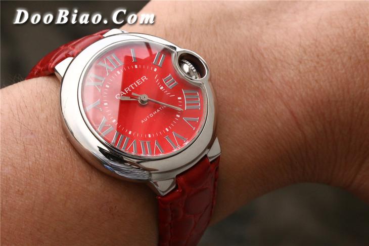 TW卡地亞中國紅藍氣球系列WSBB0022女士精仿手表