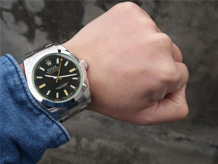 DJ厂劳力士MILGAUSS系列116400-GV-72400闪电针一比一精仿手表