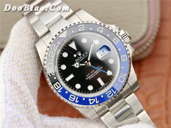 EW劳力士格林尼治型II系列116710BLNR-78200蓝黑圈一比一精仿手表