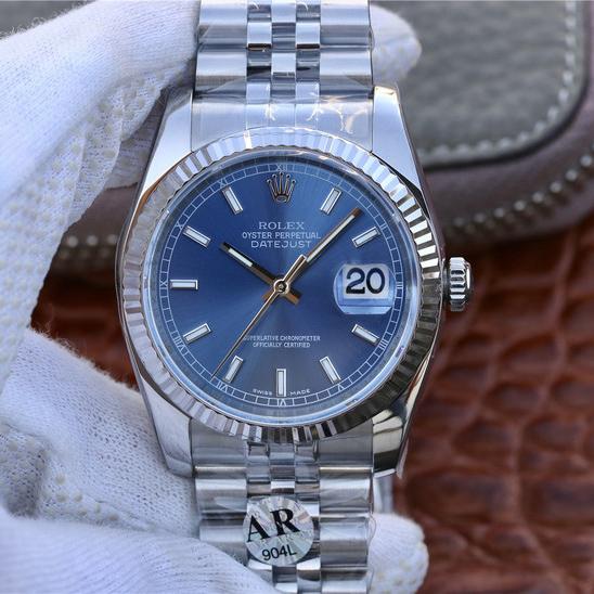 AR劳力士日志型36系列m116234-0139超强904L精钢精仿手表